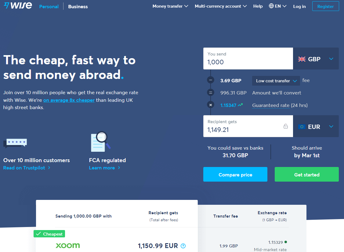 Wise formerly TransferWise Review
